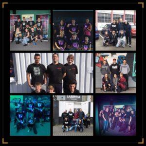 Gruppenbild der Lasertag Mannschaft no noize