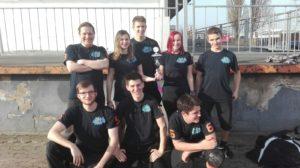 Gruppenbild des Lasertag Team sixth Sense