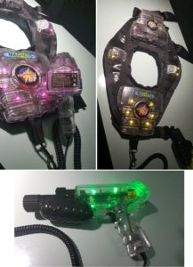 Laserforce Weste und Phaser