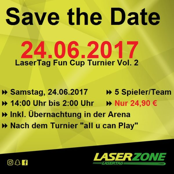 Laserzone Fun Cup 2.0 am 24.06