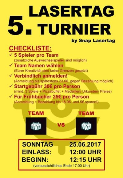 Snap Lasertag Turnier Vol 5.0 25.06