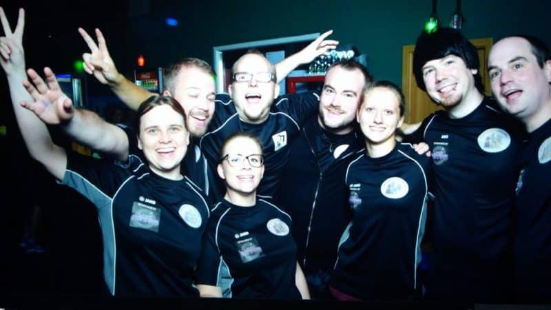 Lasertag Team Gruppenbild Gummibärenbande