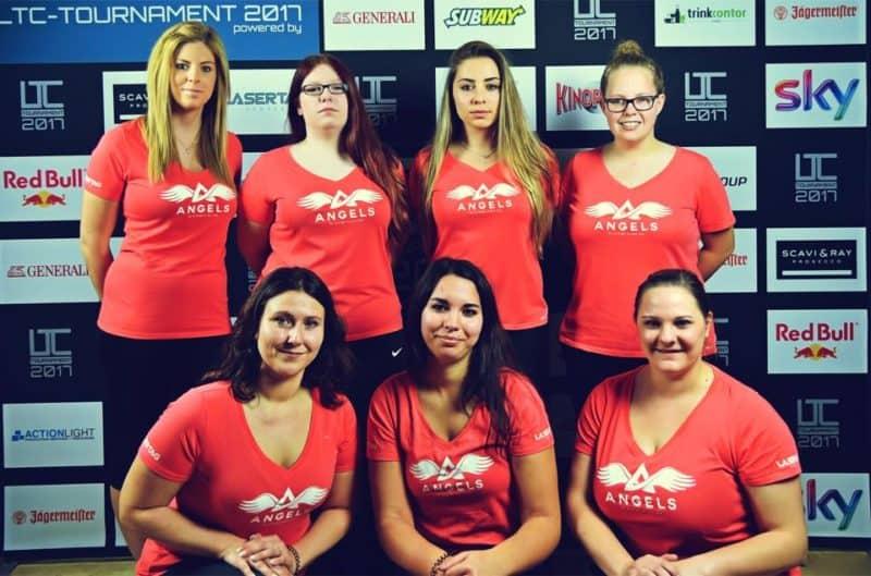 Gruppenbild des Lasertag Team Angels