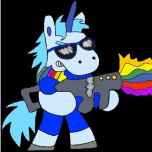 Logo des Lasertag Team Fluffy Unicorns
